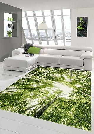 Traum Designer Und Moderner Teppich Kurzflor Wohnzimmer Teppich Wald