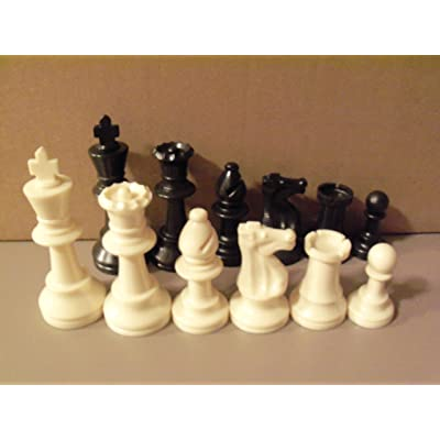 "Staunton Tournament Chess Pieces, Triple Weighted with 3.75"" King and 2 extra Queens: Toys & Games"