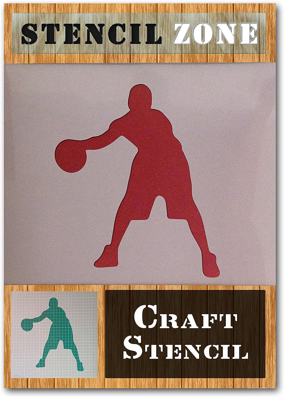 Basket-ball NBA Sport Joueur Mylar Airbrush Peinture murale Art Artisanat Stencil 2 A3 Taille Pochoir - Medium