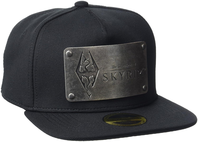 a13c395198c3 Meroncourt The Elder Scrolls Skyrim Dovakiin Metal Logo Plate Snapback Baseball  Cap, (Black), One (Size:One Size): Amazon.co.uk: Clothing