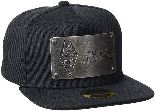 1cfec1453f194 Meroncourt The Elder Scrolls Skyrim Dovakiin Metal Logo Plate Snapback Baseball  Cap