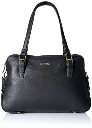 dbc0b596032 Calvin Klein Permanent Quilted Pebble Satchel, Black: Handbags ...