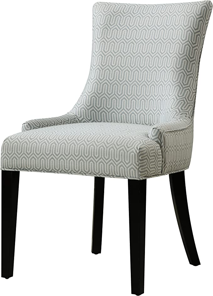 Pulaski Modern Upholstered Dining Chair In Geo Mist Multicolor Amazon Ca Home Kitchen