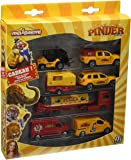 Majorette- 212050830-  Pinder Square Pack, Vehicule miniature, 4 voitures, 2 trailers