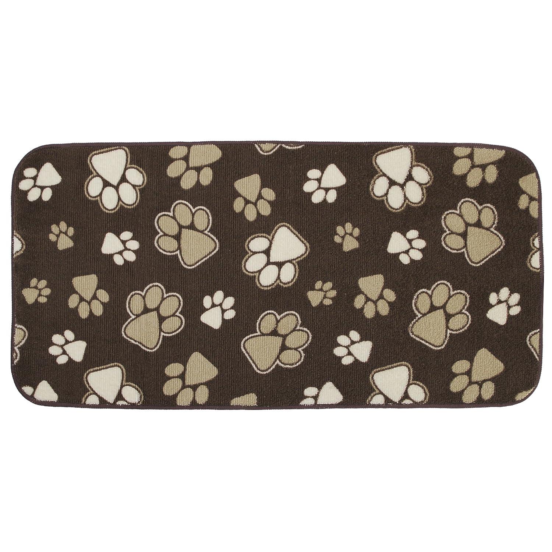 10 x 20 KITCHEN BASICS Microfiber Anti-Skid Pet Bowl Mat Beige