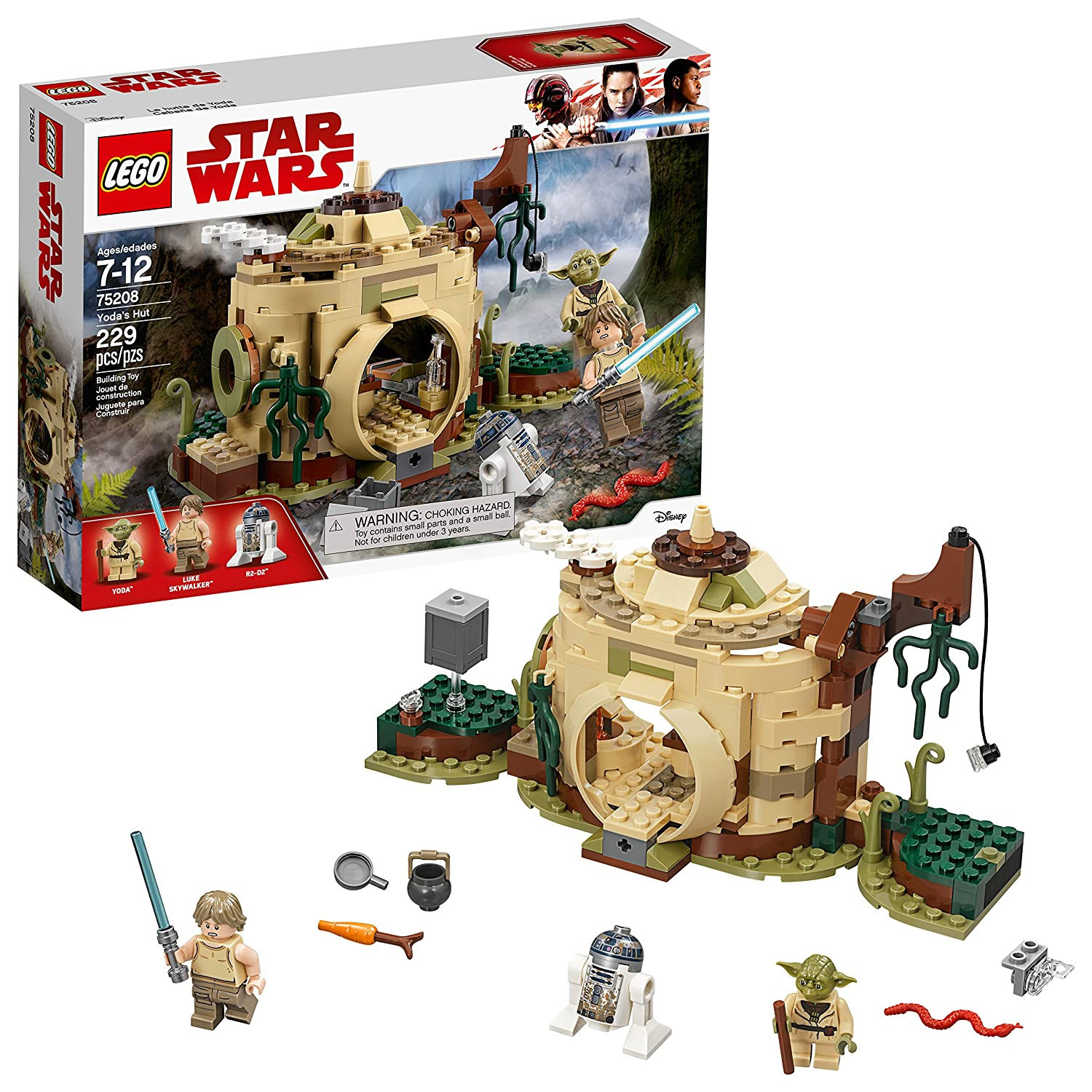 LEGO Star Wars: The Empire Strikes Back Yoda's Hut 75208 Building Kit (229 Piece) 6212673