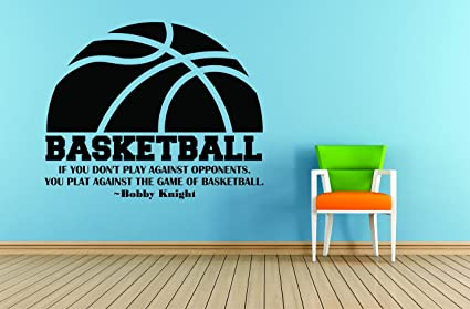Amazoncom Wall Decal Basketball If You Dont Play Against