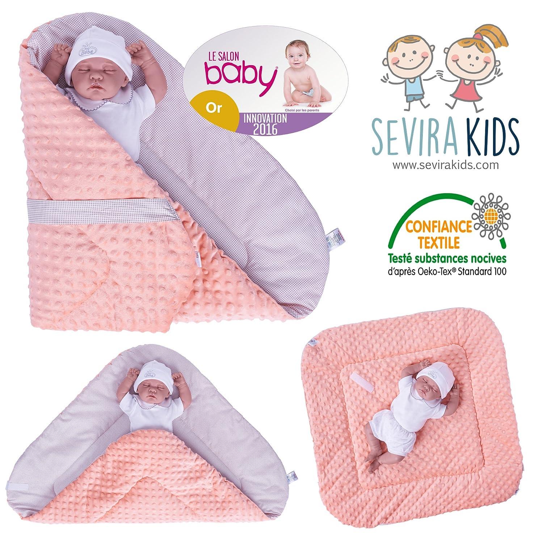 Sevira Kids Baby Swaddling Blanket Minky Apricot