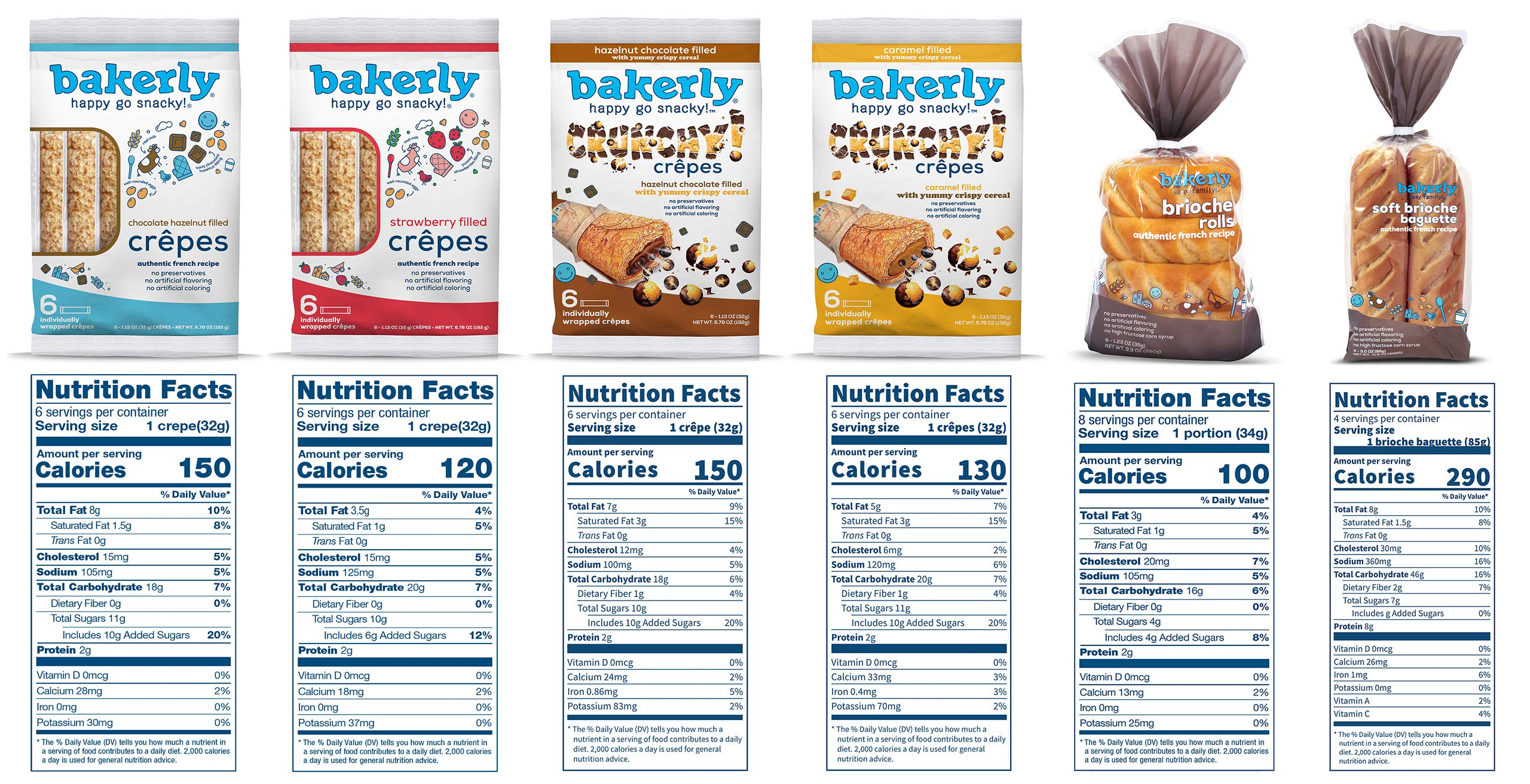 bakerly Filled Crepes & Brioches Variety Pack of 6 (24 Crepes + 4 Baguettes + 8 Brioche Rolls) by bakerly (Image #3)