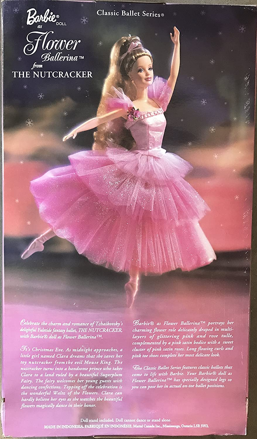 NEW MATTEL BARBIE BALLERINA PINK ON POINT DOLL STAND COLLECTOR EDITION