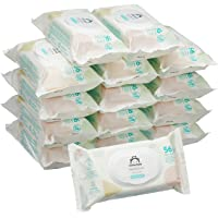 Marca Amazon - Mama Bear Sensitive Toallitas húmedas para bebé - 15 Paquetes (840 Toallitas