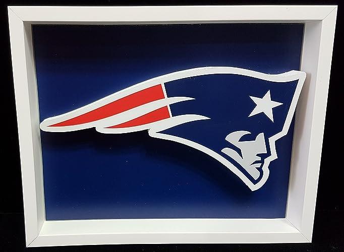 Amazon New England Patriots Football Logo Picture Custom Frame