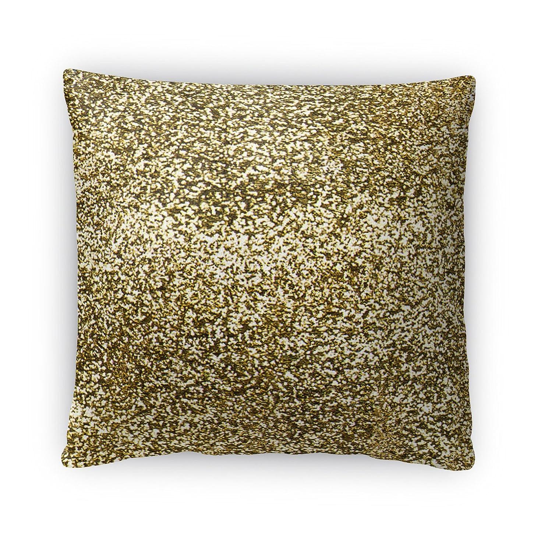 Size: 18X18X4 - Gold//White//Black PLUAVC087FBS18 - KAVKA Designs Home Sweet Dorm Fleece Throw Pillow,