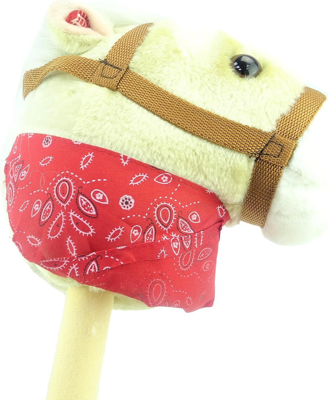 TOYLAND Crema Caballo Hobby con Bandana y Sonido - Caballo en un Palo - Juguetes para Niños - Juguetes para Caballos