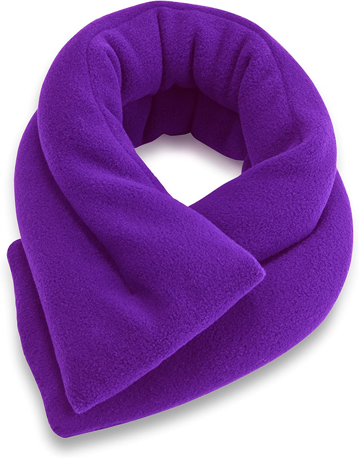 Sunny Bay Microwavable Neck Heating Wrap - Bean Bag Heat Pad for Neck Pain Relief, Microwave, Hot & Cold Therapy, Extra Long Shoulder Heat Pack, Back Pain Relief (Violet)