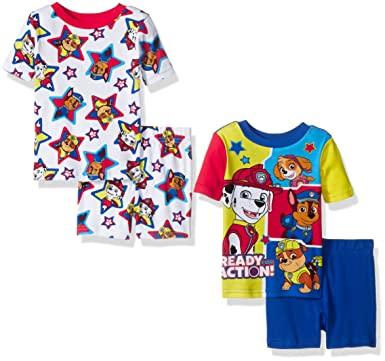 1ca7a3fdf8 Image Unavailable. Image not available for. Color  Nickelodeon Toddler Boys   Paw Patrol Cotton 4-Piece Pajama Set ...