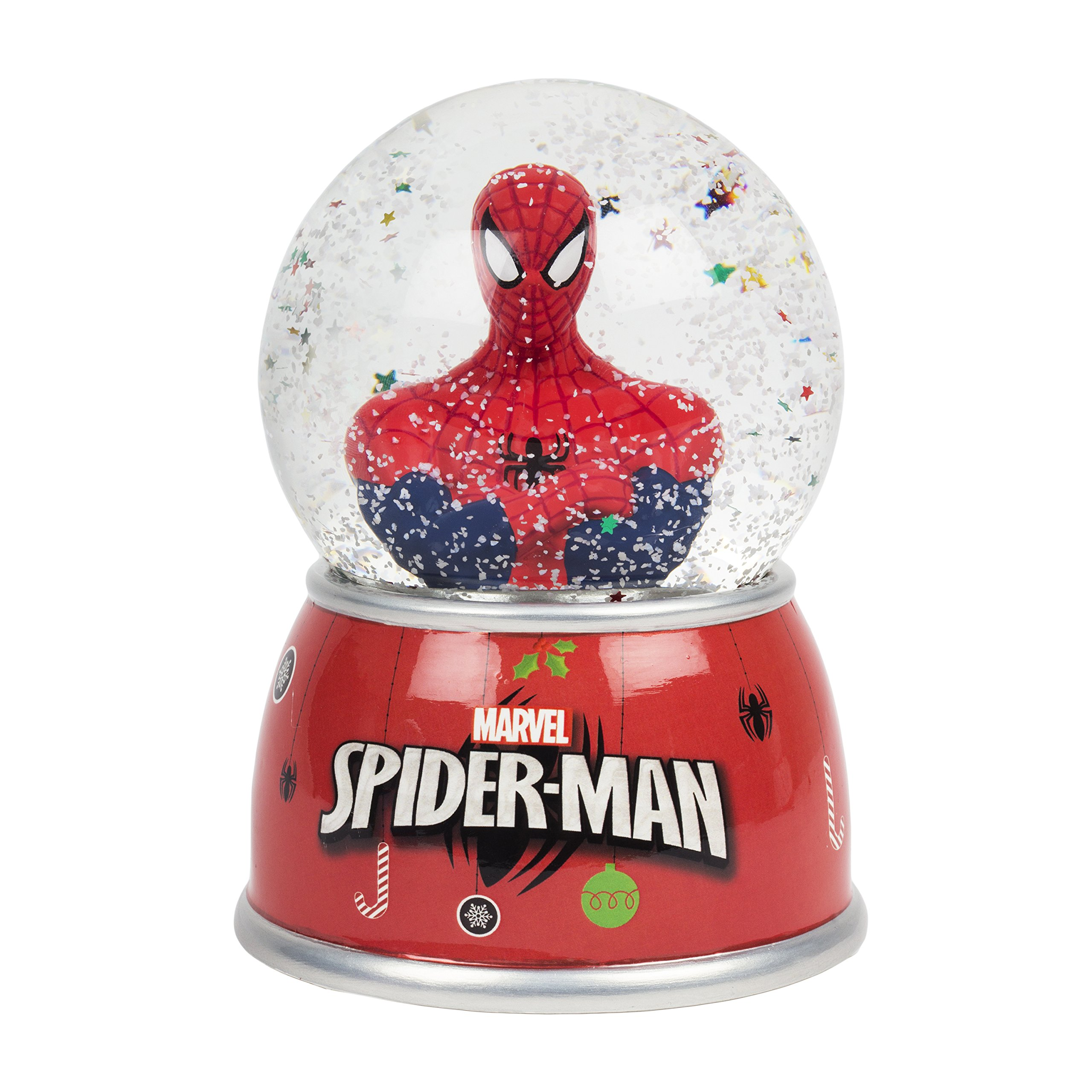 FAB Starpoint Marvel Spiderman Red Christmas Snow Globe Coin Bank