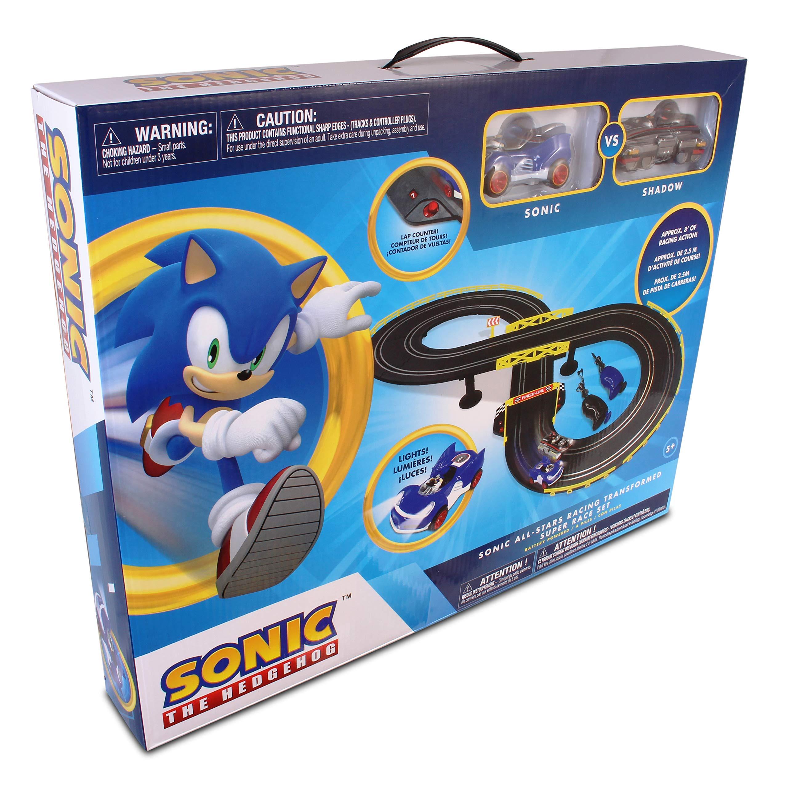 NKOK Sonic & Shadow RC Slot Car Set Race Set Vehicle