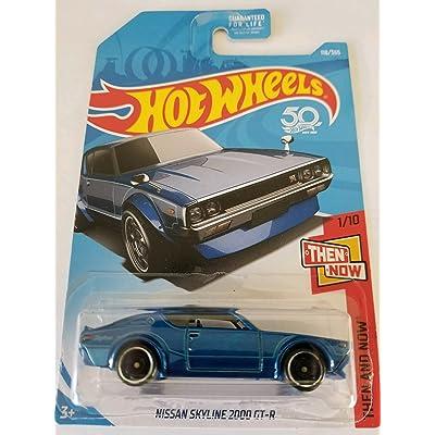 Hot Wheels 2020 50th Anniversary Nissan Skyline 2000 GT-R 118/365, Blue: Toys & Games