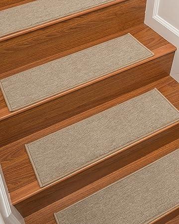 NaturalAreaRugs Kenya Carpet Stair Treads, Set Of 13, 9u0026quot; ...