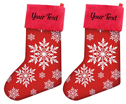 personalized christmas stockings women christmas snowflake pattern christmas stockings girls stocking stuffers 2 pack personalized christmas - Girls Christmas Stocking