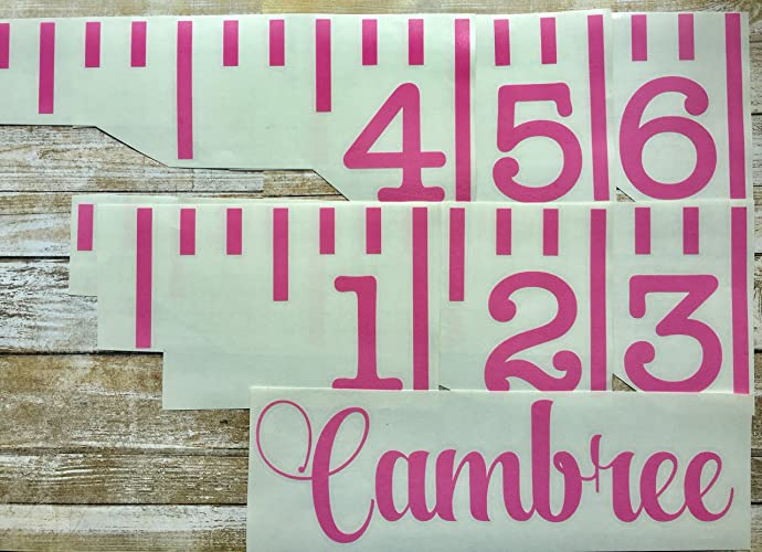 Amazon Growth Chart Decals Giant Ruler Stickers Handmade