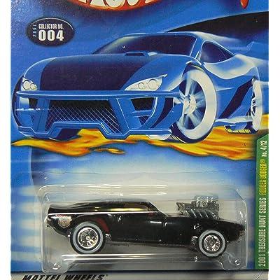 Mattel Hot Wheels 2001 Treasure Hunt 1:64 Scale Black Rodger Dodger 4/12 Die Cast Car #004: Toys & Games