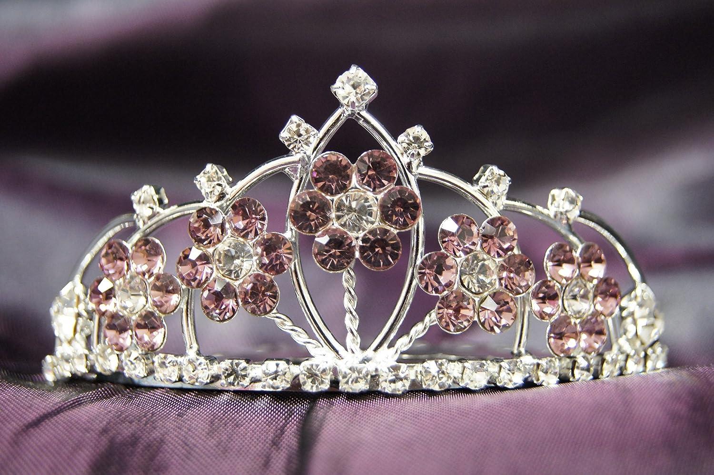 bride bridesmaid lilac tiara Anna Floral Hairband