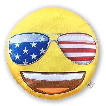 Emoji Cojín Cara Gafas de Sol USA Oficial (PIW Sunglasses_EB ...