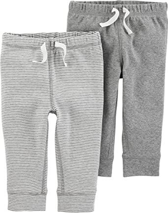 Essentials 4-Pack Pull-on Pant Casual 0-3 Months Black//Stripe//White//Grey