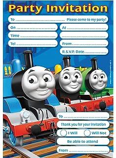 20 X Thomas The Tank Engine Kids Birthday Party Invitations Cards