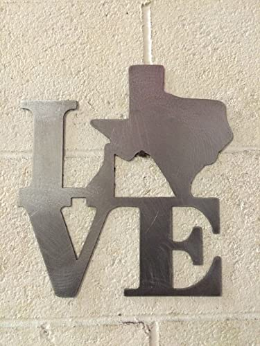 Amazon.com: Love Texas State sign steel metal wall art decor: Handmade