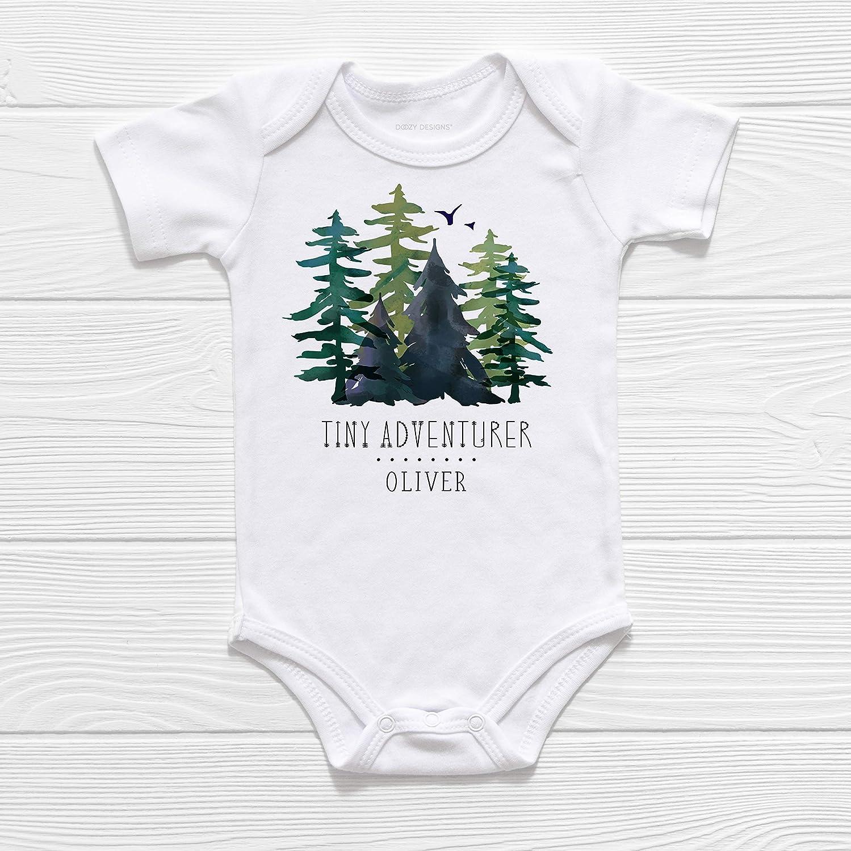 Tiny Adventurer Personalized Custom Baby Boy Name Bodysuit or T-Shirt