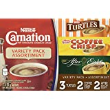 CARNATION Flavoured Hot Chocolate Variety Pack - Turtles, Coffee Crisp, After Eight, (Pack of 7 sachets), 175g