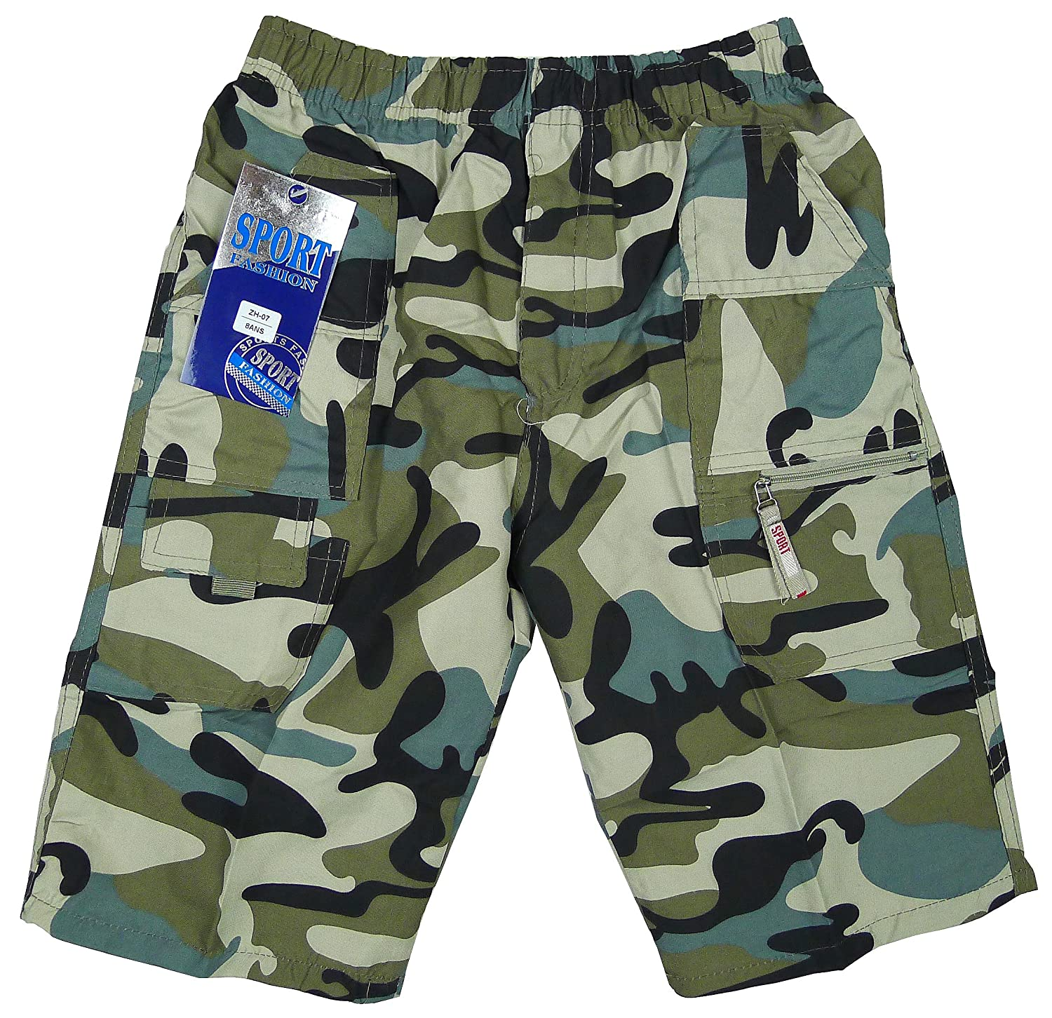 Boys Microfibre Army Camo Camouflage Combat Shorts Sizes from 3-14 Years