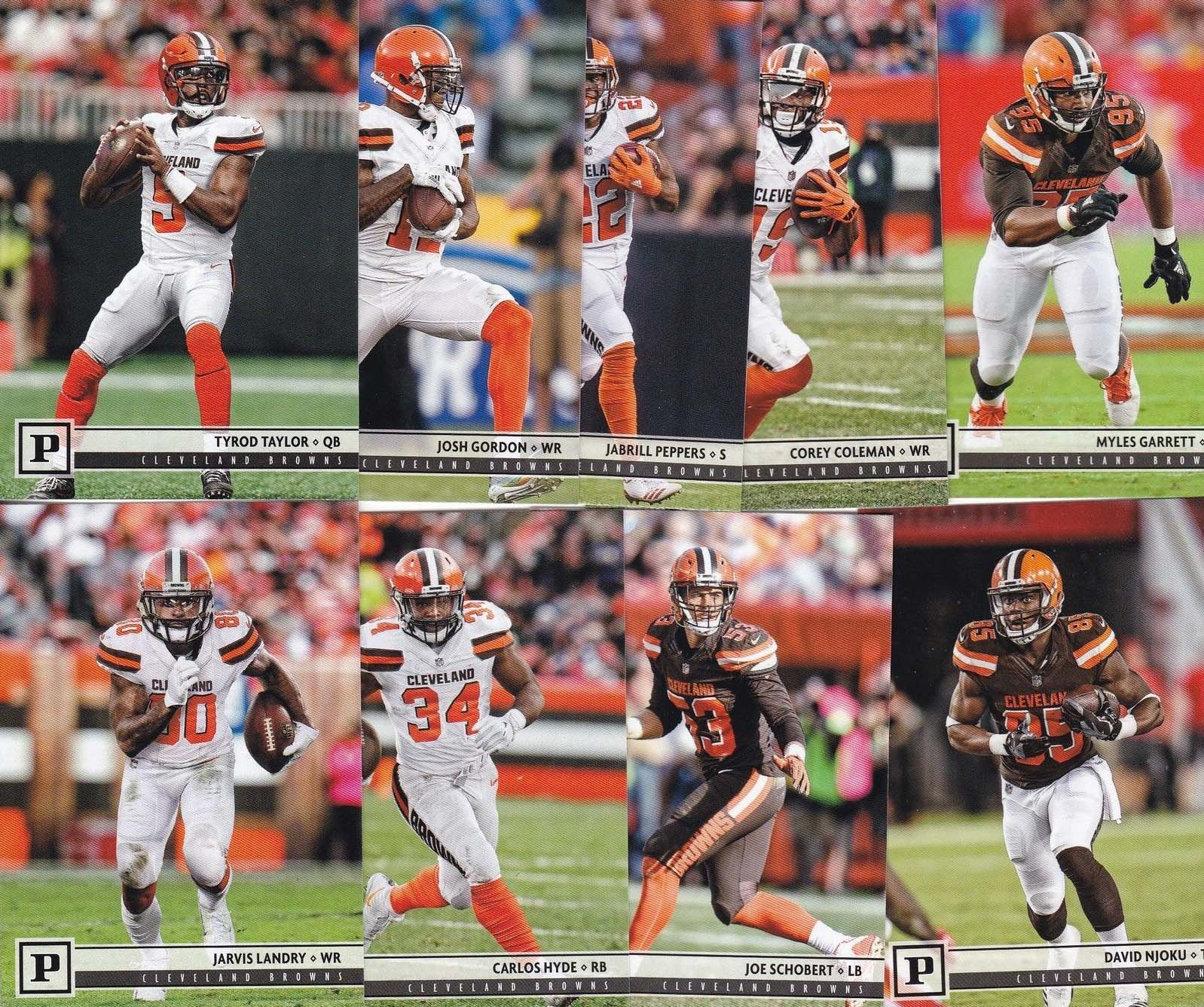 Cleveland Browns 2018 Panini Factory Sealed NFL Football Complete Mint 14 Card Team Set with Rookie Cards of Baker Mayfield and Denzel Ward plus