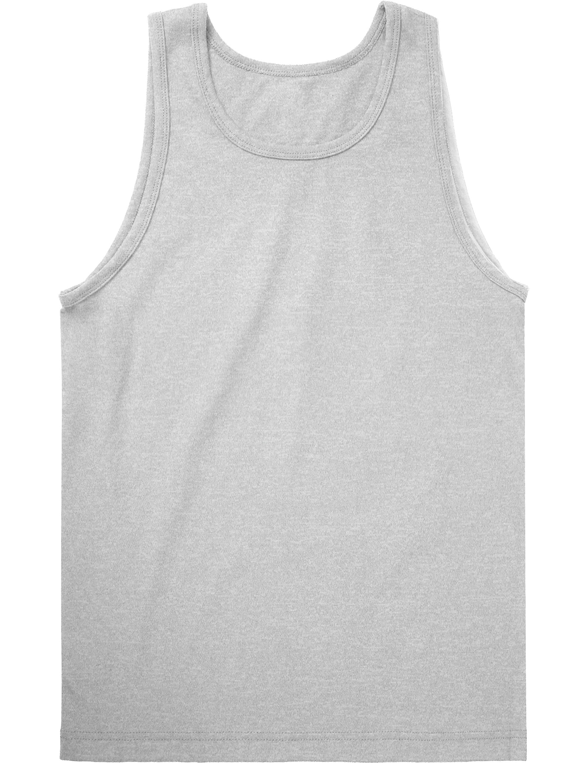 Hat and Beyond KS Mens Tank Top Muscle Fit Active Exercise Sleeveless Shirt (3X-Large, Gray)