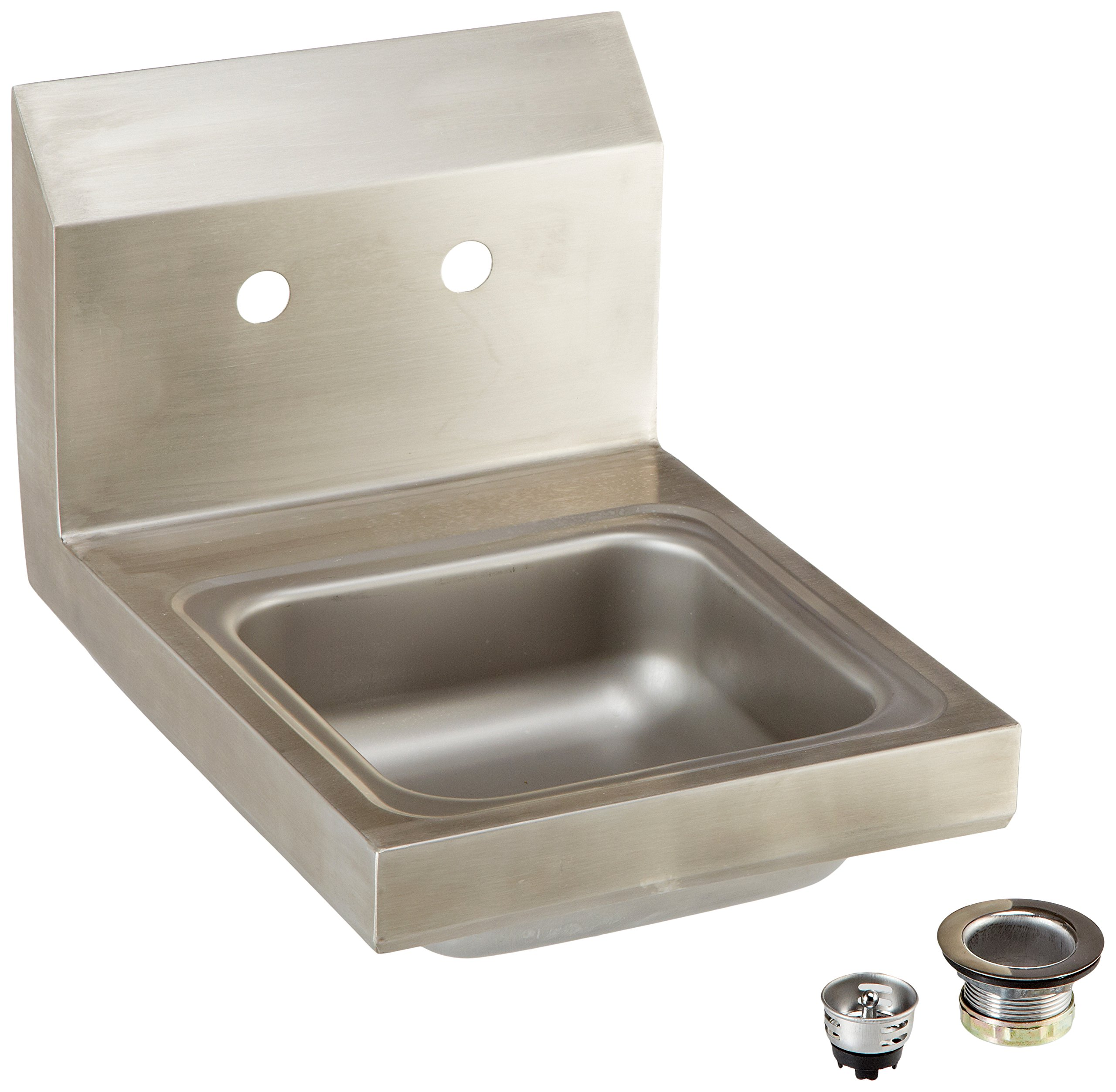 John Boos PBHS-W-0909 Stainless Steel 304 Pro-Bowl Hand Sink, Splash Mount Faucet Location, 9'' Length x 9'' Width x 5'' Depth