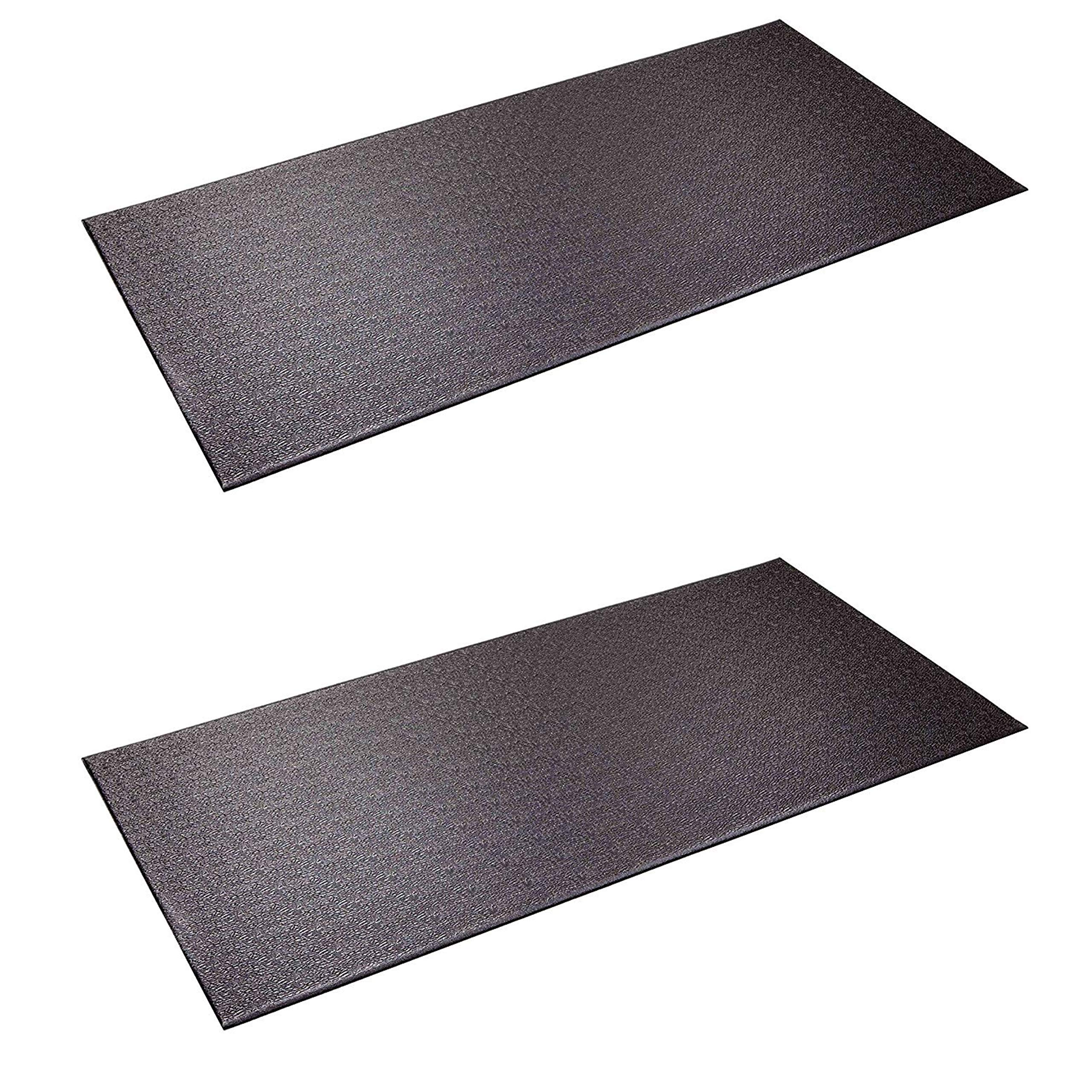 SuperMats Heavy Duty Equipment Mat 13GS Made in U.S.A. for Indoor Cycles Recumbent Bikes Upright Exercise Bikes and Steppers (2.5 Feet x 5 Feet) (30-Inch x 60-Inch) (76.2 cm x 152.4 cm) (Тwо Расk) by SuperMats (Image #1)