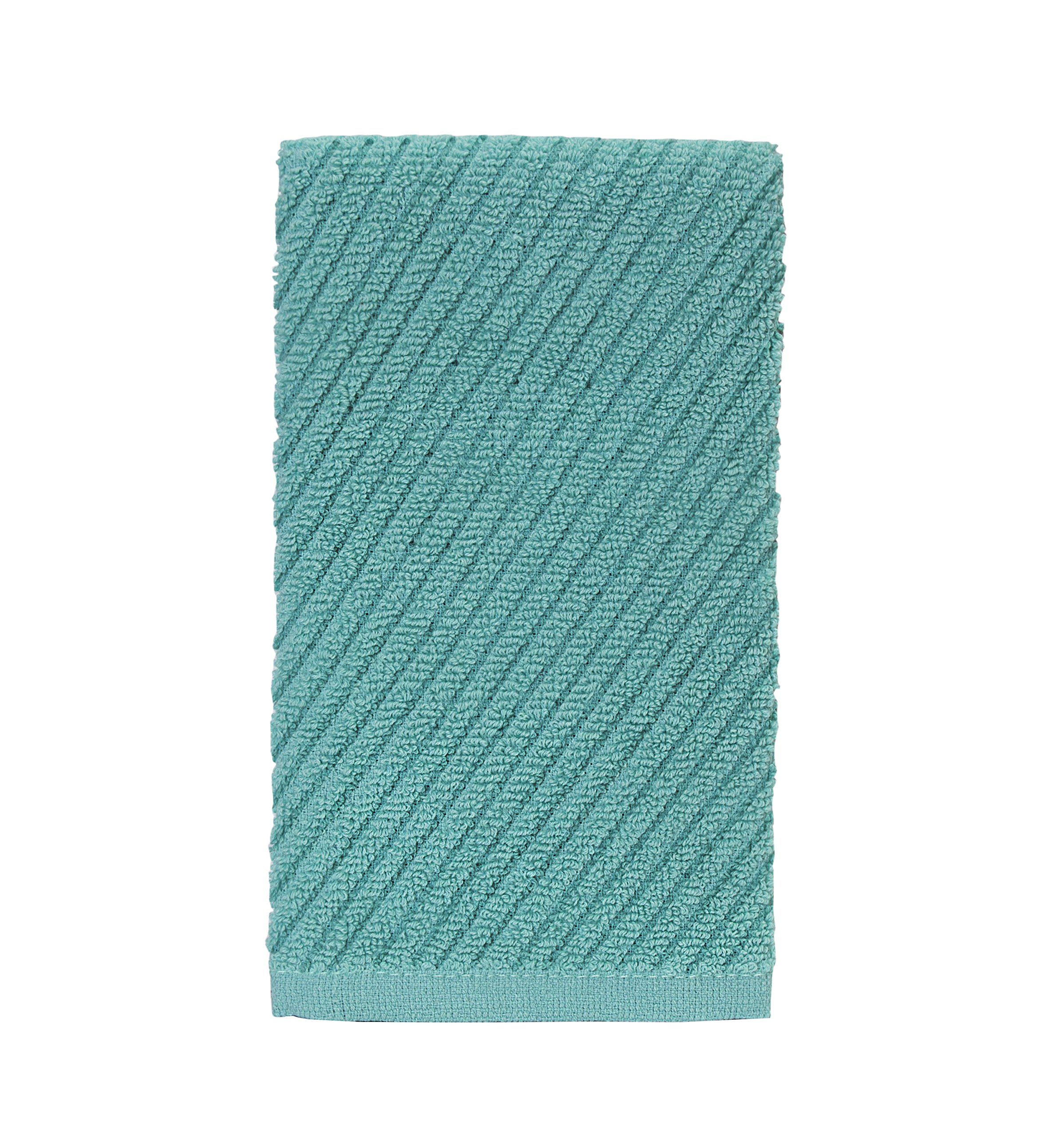 "Bumble Deluxe Barmop Kitchen Towel 6-Pack / 16"" x 19"" / Premium Ultra Absorbent Cotton Hand Towels/Quick Drying Tea Towels/Diagonal Weave Thick 2-Ply/Long Lasting - Aqua by Bumble Towels (Image #3)"