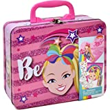Jojo Siwa Coloring and Activity Tin Box, Includes Markers, Stickers, Mess Free Crafts Color Kit in Tin Box, for Toddlers…