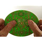 """Meditation & Mindfulness Spiritual Tools & Gifts for Healing & Stress Relief - Powerforms Sacred Geometry Copper Portal Plate 5.75"""" x 4.25"""""""