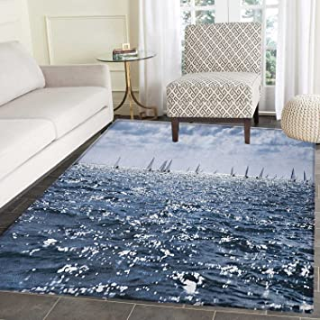 Amazon Com Nautical Rugs For Bedroom Group Of Sailing Boats In The