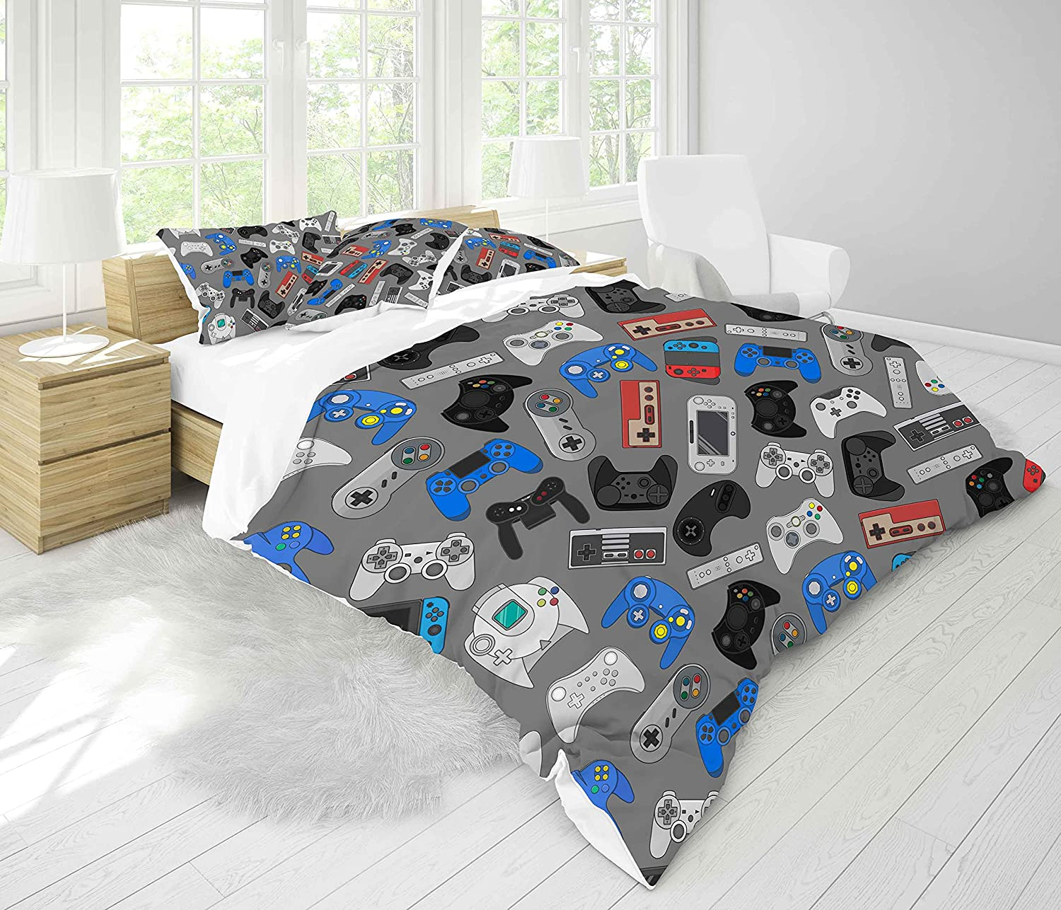 Feelyou Kids Gaming Comforter Brand new Set Game Queen Cont Seamless Video Max 53% OFF