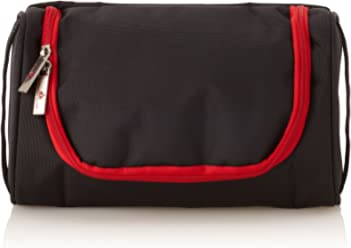Swiss Legend Unisex Toiletry Bag, Black/Red