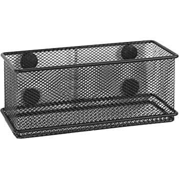 Superieur MyGift Modern Wire Mesh Magnetic Basket Storage Tray, Office Whiteboard  Supply Organizer, Black