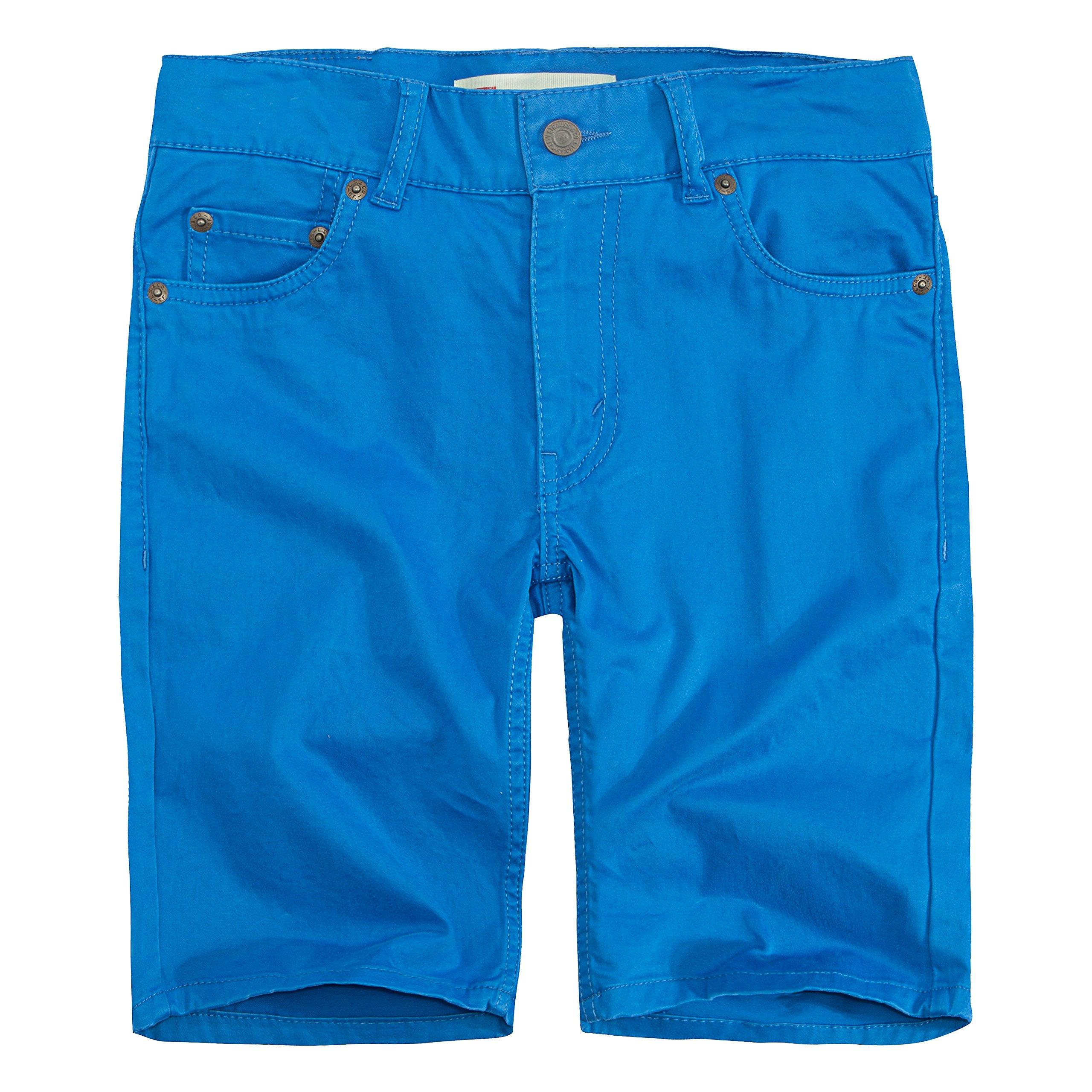Levi's Boys' Big 511 Slim Fit Soft Brushed Shorts, Princess Blue, 12