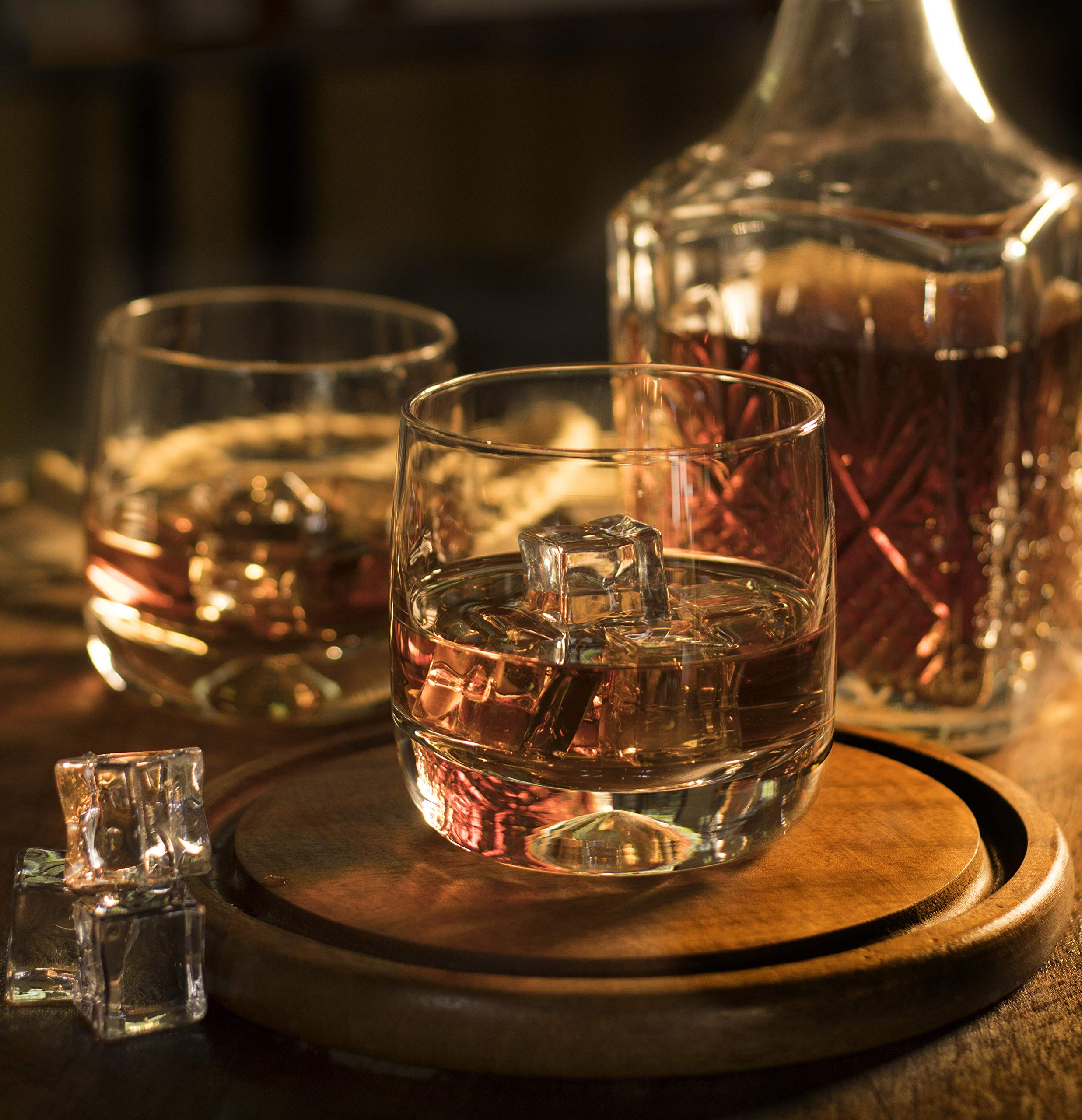 Premium Whiskey Glasses - Large - 12oz Set of 2 - Lead Free Hand Blown Crystal - Thick Weighted Bottom - Seamless Handmade Design - Perfect for Scotch, Bourbon, Manhattans, Old Fashioned's, Cocktails. by Mofado (Image #6)