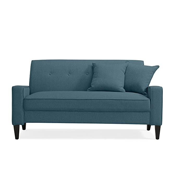 Amazon.com: domesis Granada sofá, Lino Azul: Kitchen & Dining