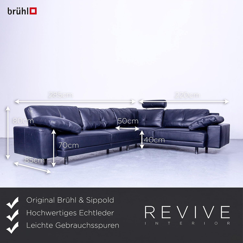 Liebenswert Brühl Und Sippold Sammlung Von Brühl & Designer Leather Corner Sofa Black